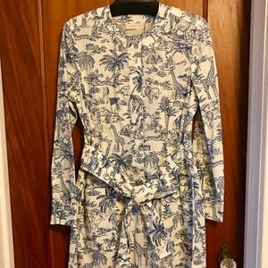 Tory Burch Far and Away Printed Cotton Shirtdress